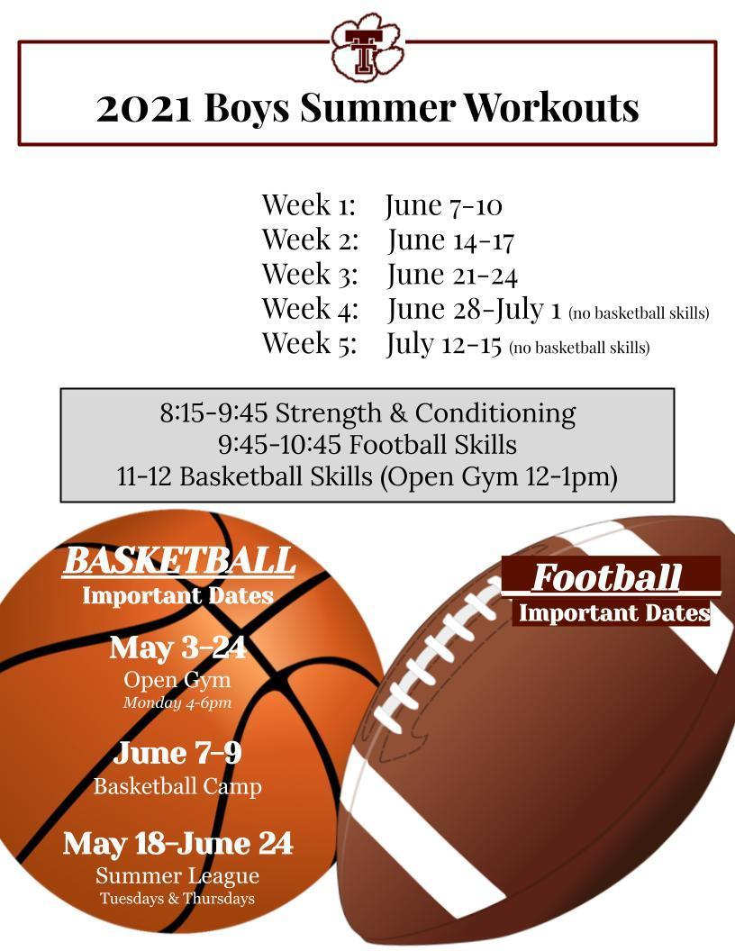 Boys Summer Workouts