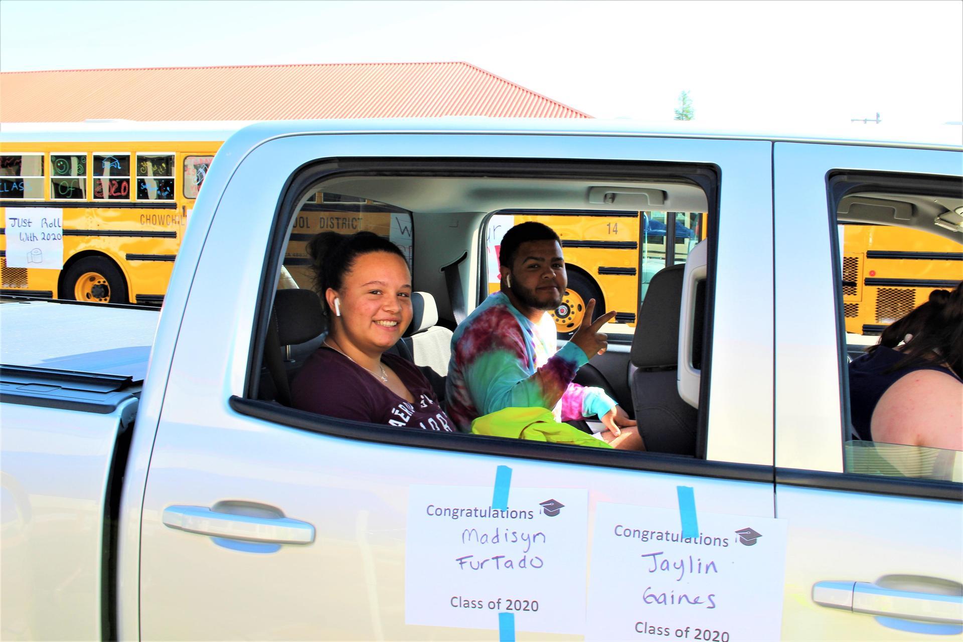 Madisyn Furtdao and Jaylinn Gaines riding through