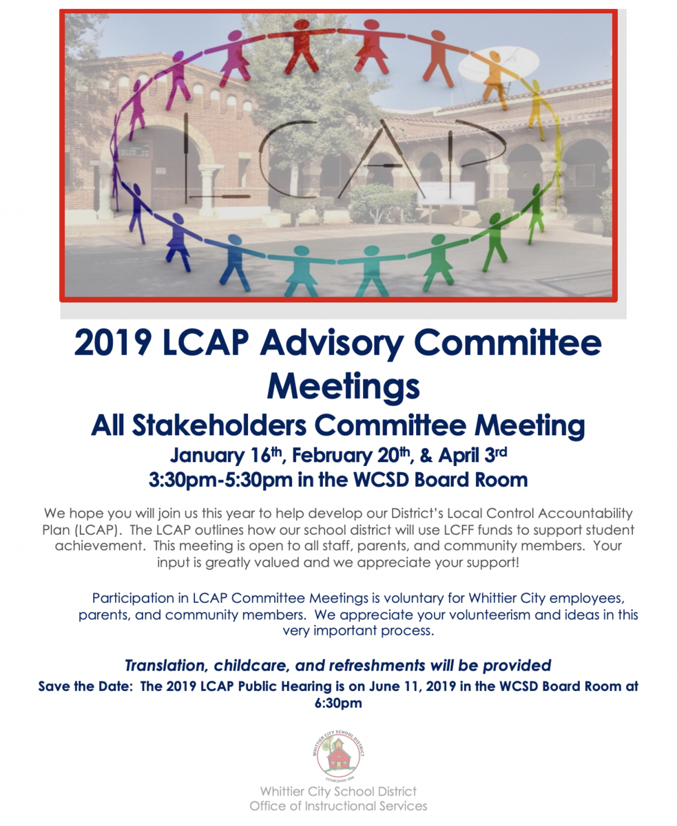 LCAP Advisory Committee Meetings