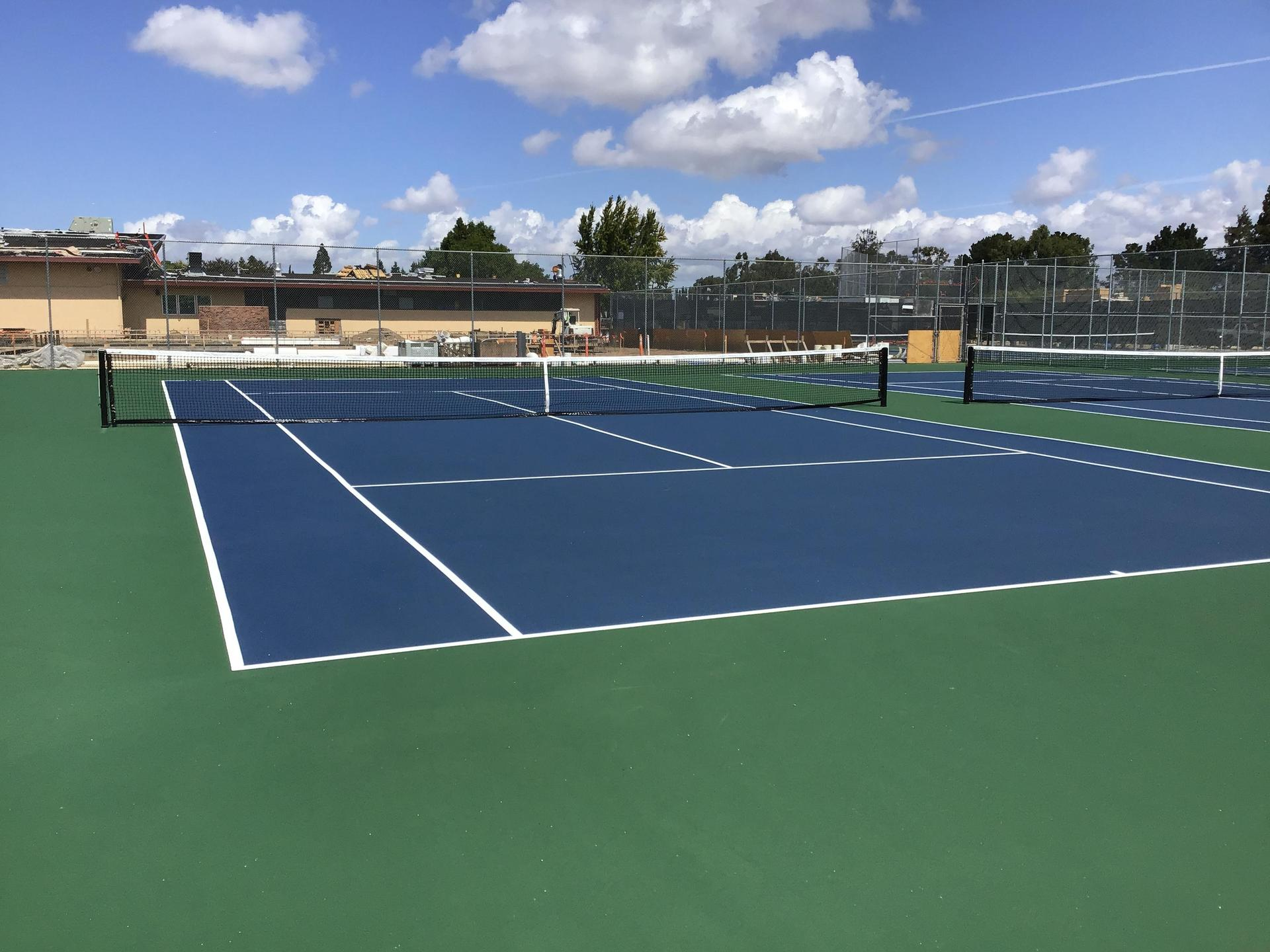 Image of new tennis courts at Del Mar
