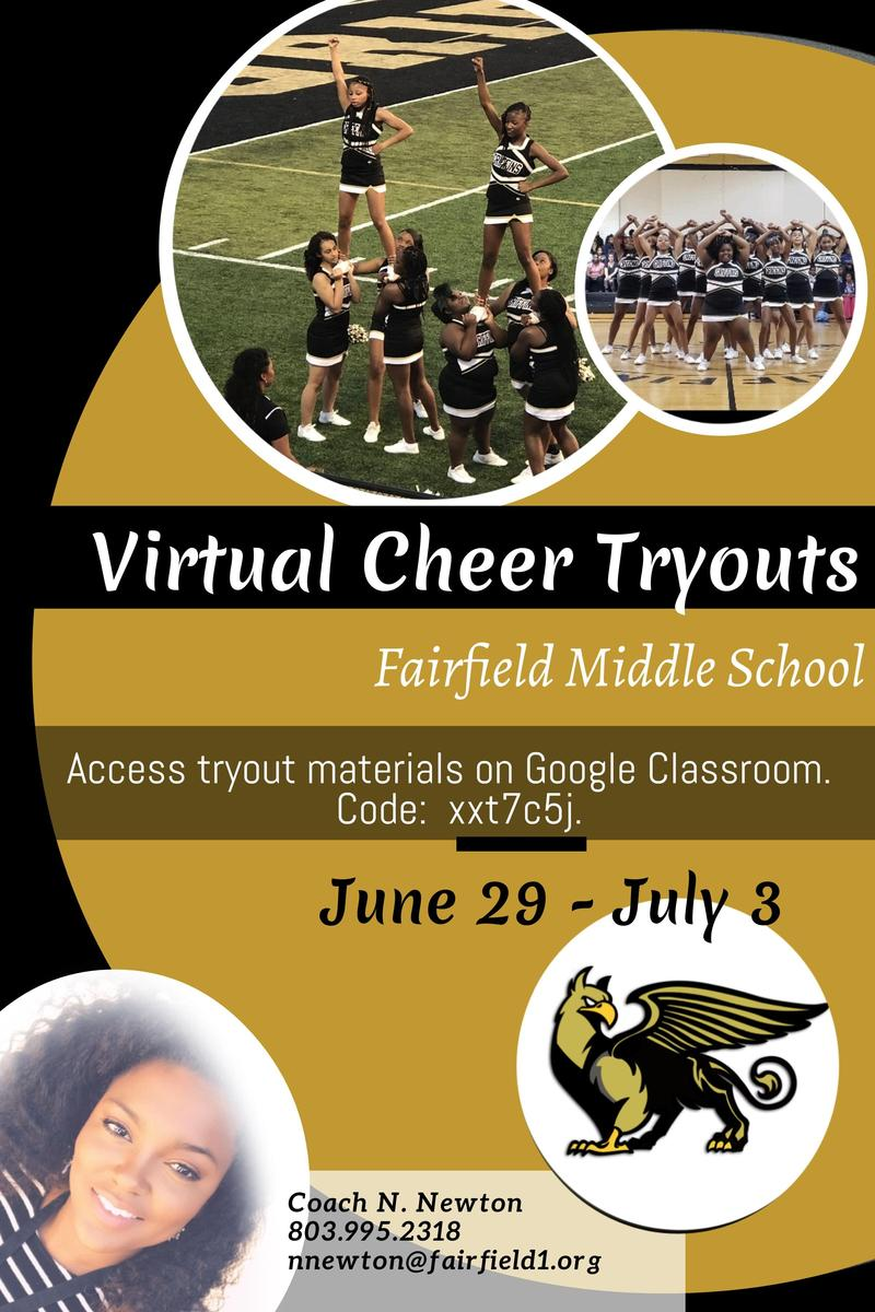 Information about virtual cheer tryout