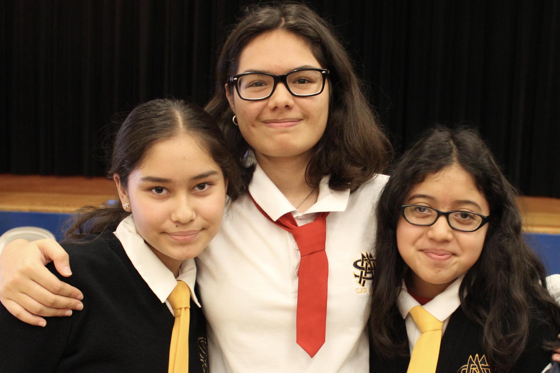 picture of 3 students