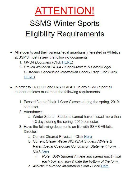 Athletic Eligibility Information for Winter Sports Featured Photo