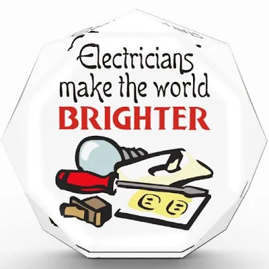 Electricians make the world Brighter logo