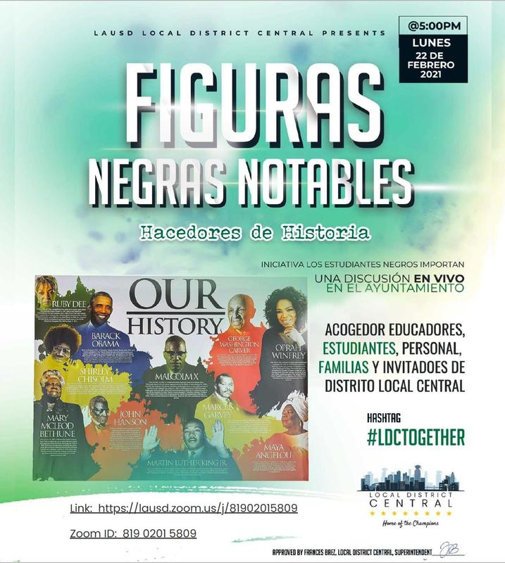 BSM Ayuntamiento Figuras Negras Notables @5:00 PM Lunes, el 22 de febrero del 2021 Featured Photo