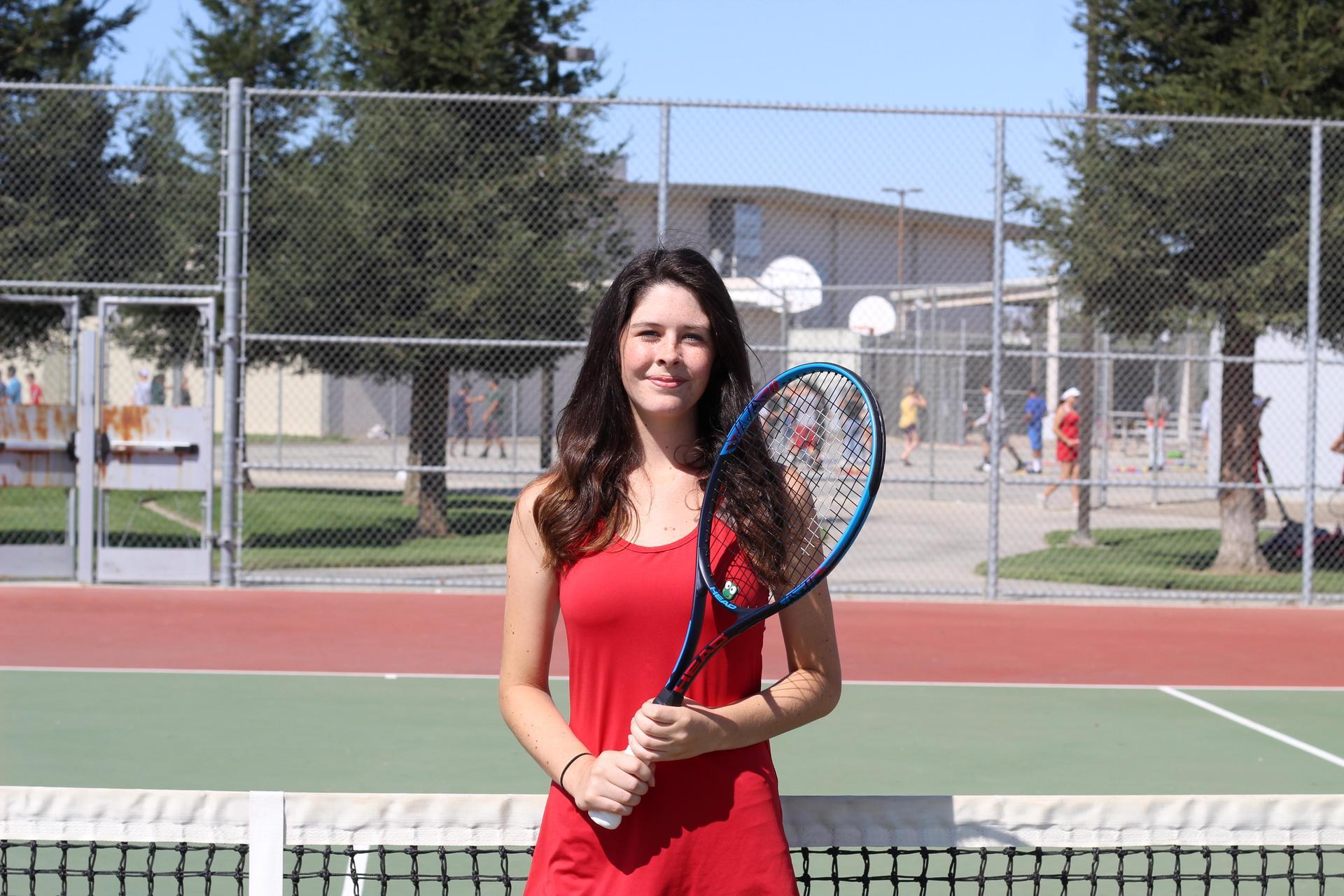 Senior tennis player Juliana Smith.