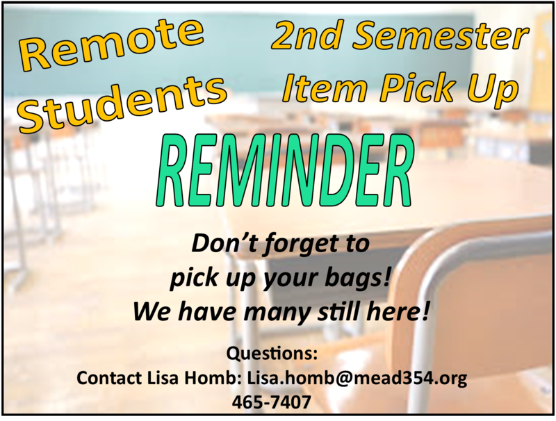 Reminder of remote bags to pick up