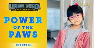 Congratulations to Our Power of the PAWS Student, Shelby M.!