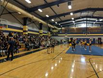 Cheerleaders performing at the pep rally!