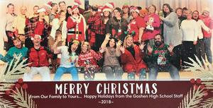 Happy Holidays from the Goshen High School staff