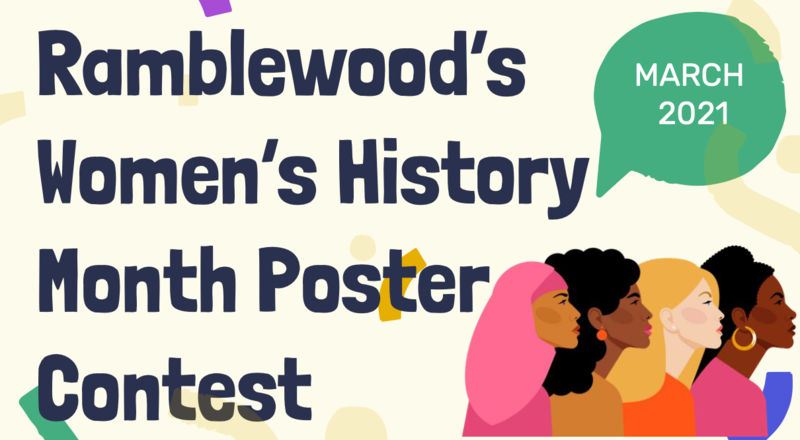 Ramblewood's Women's History Month Poster Contest