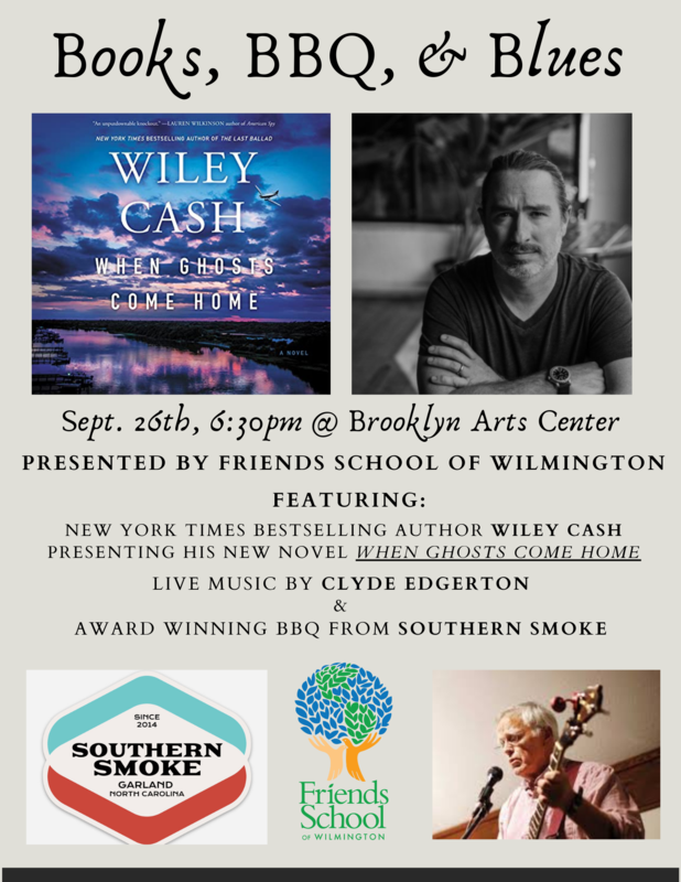 Books, BBQ, & Blues featuring Wiley Cash, Clyde Edgerton, and Southern Smoke BBQ Featured Photo