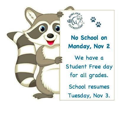 No School on Monday, November 2 Featured Photo