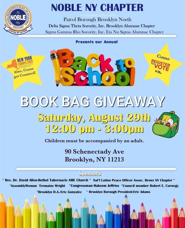 Noble NY Chapter Back to School Book Bag Giveaway