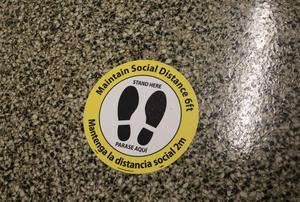 Floor decals and other signage are in place in Westfield Public Schools to help remind students of important health and safety procotols
