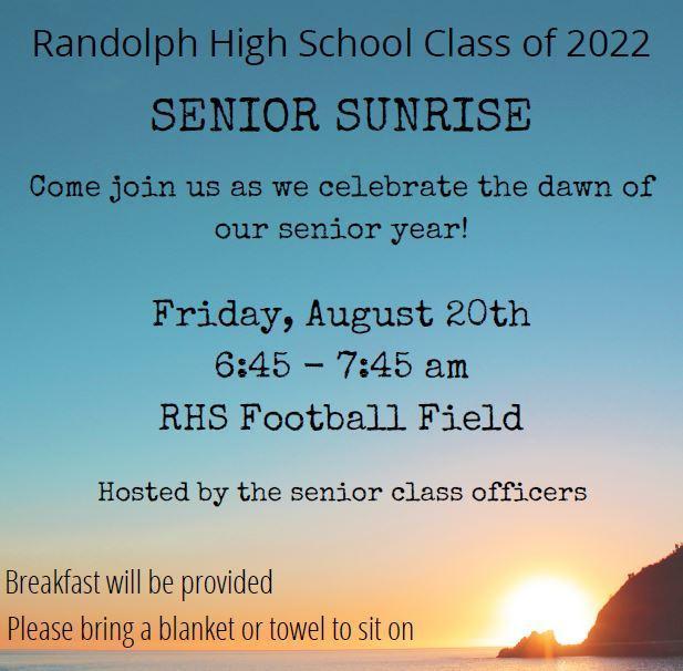 Class of 2022 Senior Sunrise