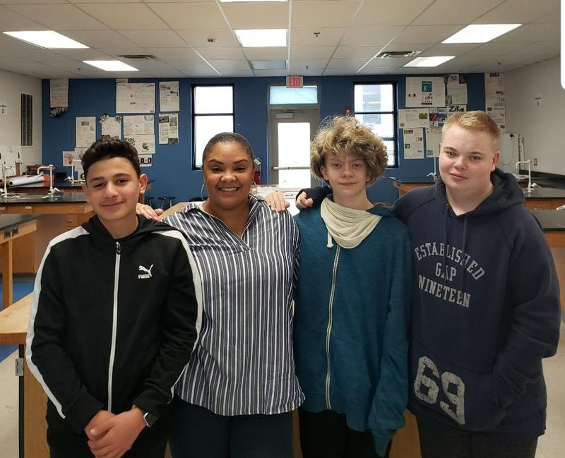 Ms. Newman and Students