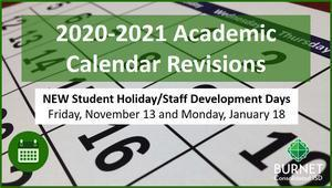 Revisions to the 2020-2021 Academic Calendar Thumbnail Image