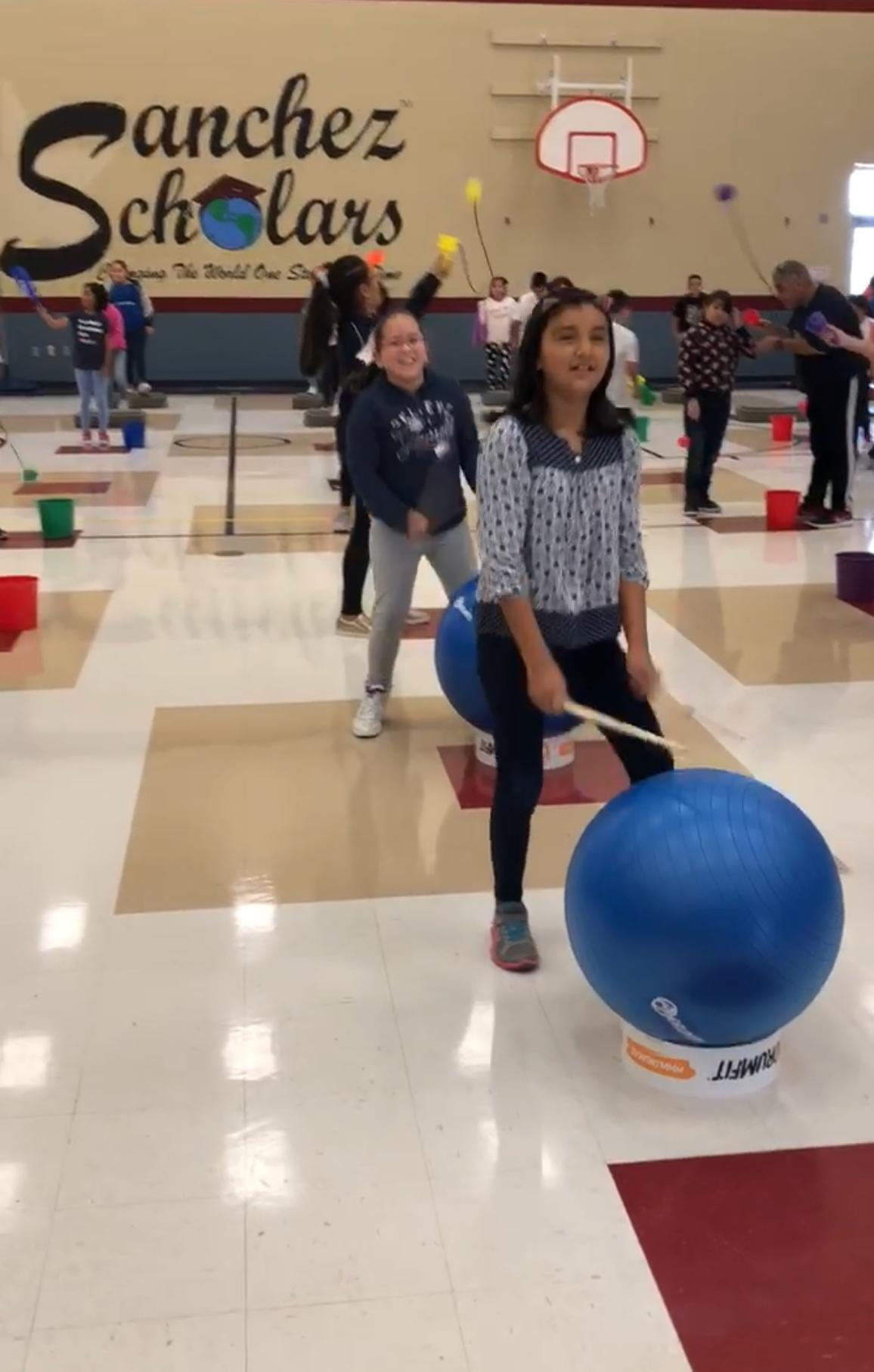 Students participating in the Gym