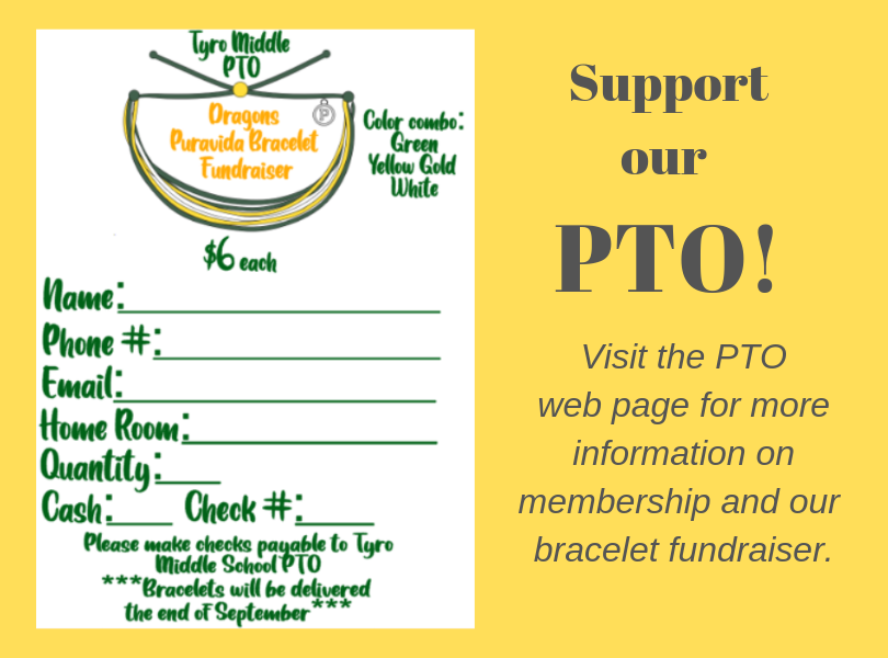 PTO Banner with Bracelet Form and Information