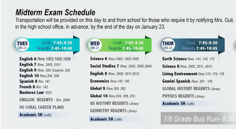 Midterm Week schedule