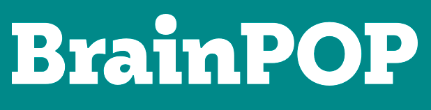 Brainpop logo, text in a green rectangle box