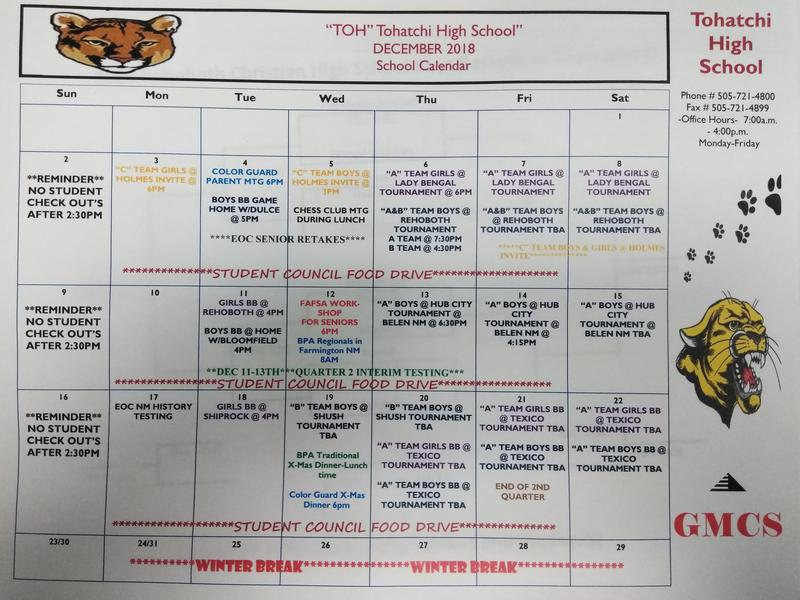December Calendar of Events 2018 Featured Photo