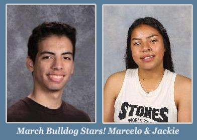 Marcelo and Jackie, March Students of the Month