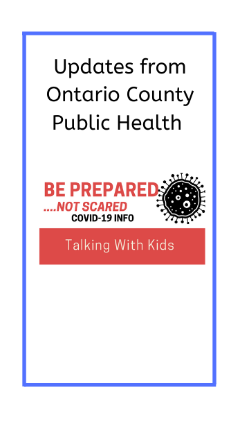 poster of updates from ontario county public health