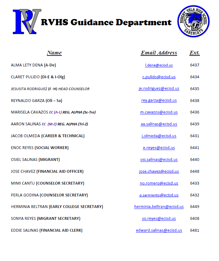 RVHS Guidance and Counseling