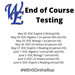 EOC Testing Dates