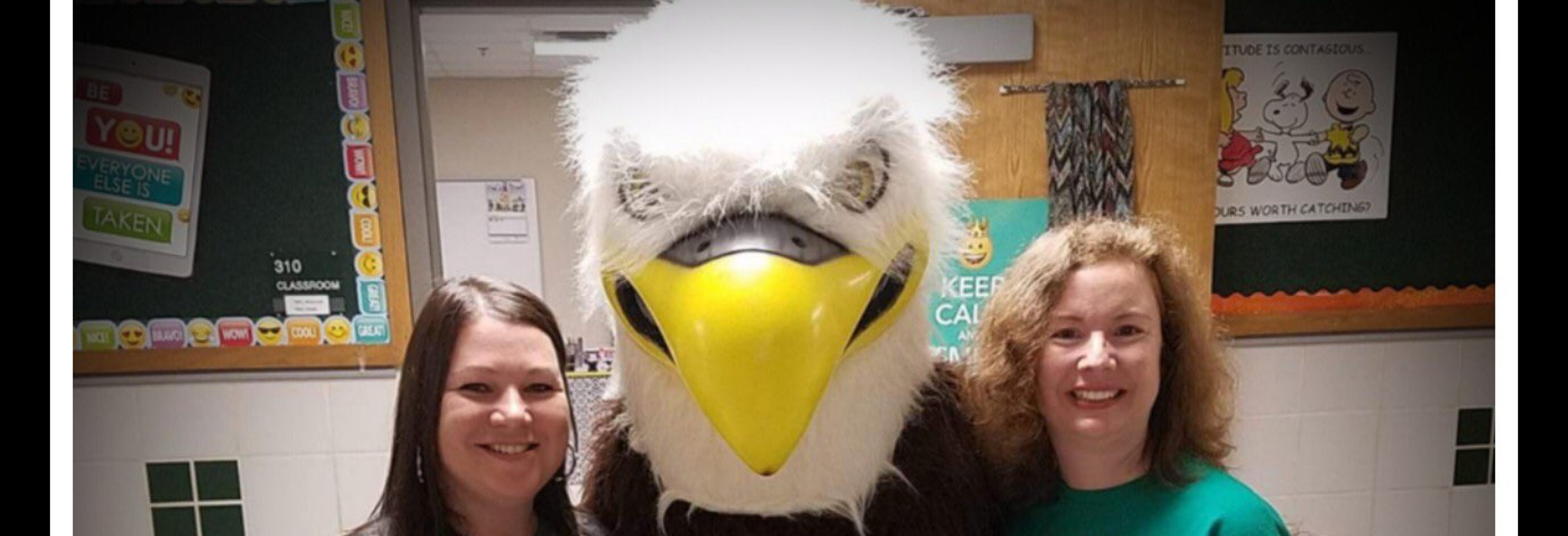 Canton ISD Eagle Mascot and Intermediate Teachers