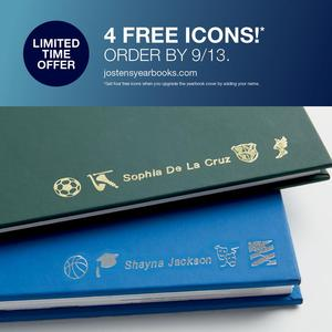 Yearbook ad for 4 free icons