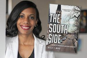 Image of Natalie Moore with book cover