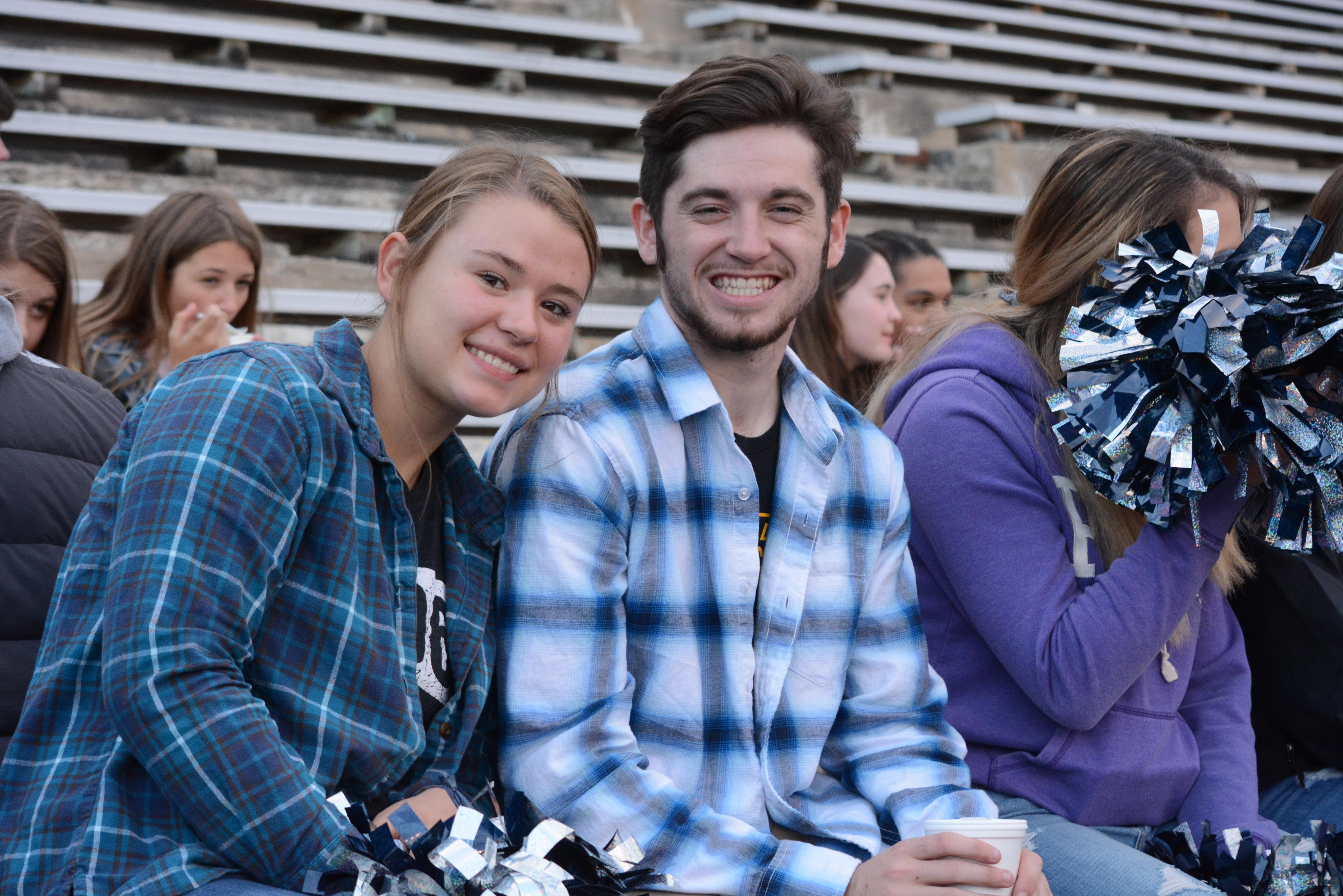 Students enjoying the football game
