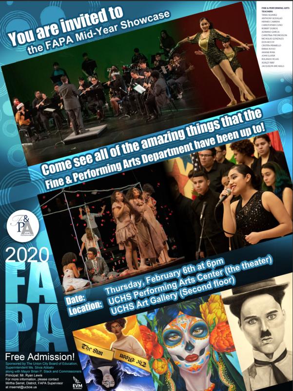 FAPA Mid-year showcase flyer