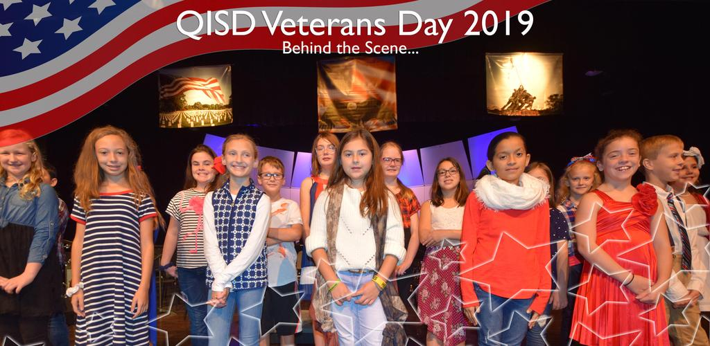 QISD VETERANS DAY 2019 BEHIND THE SCENE...BUTLER CHOIR STUDENTS PIC
