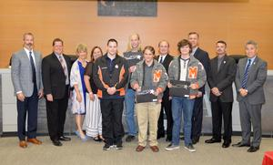 Fencing Team honored at School Board meeting