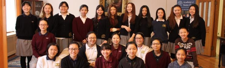 Photo of some of NDA international students