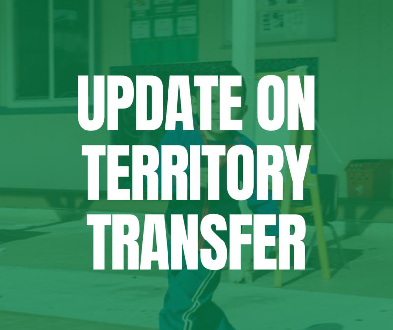 Superintendent's Message on Territory Transfer: September 18, 2021 Featured Photo