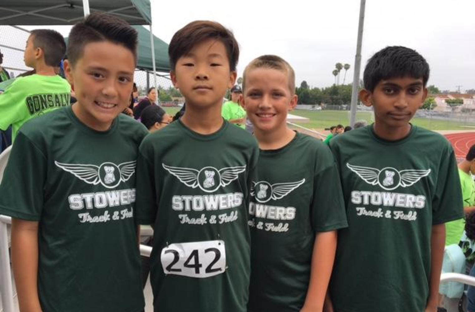 student track team