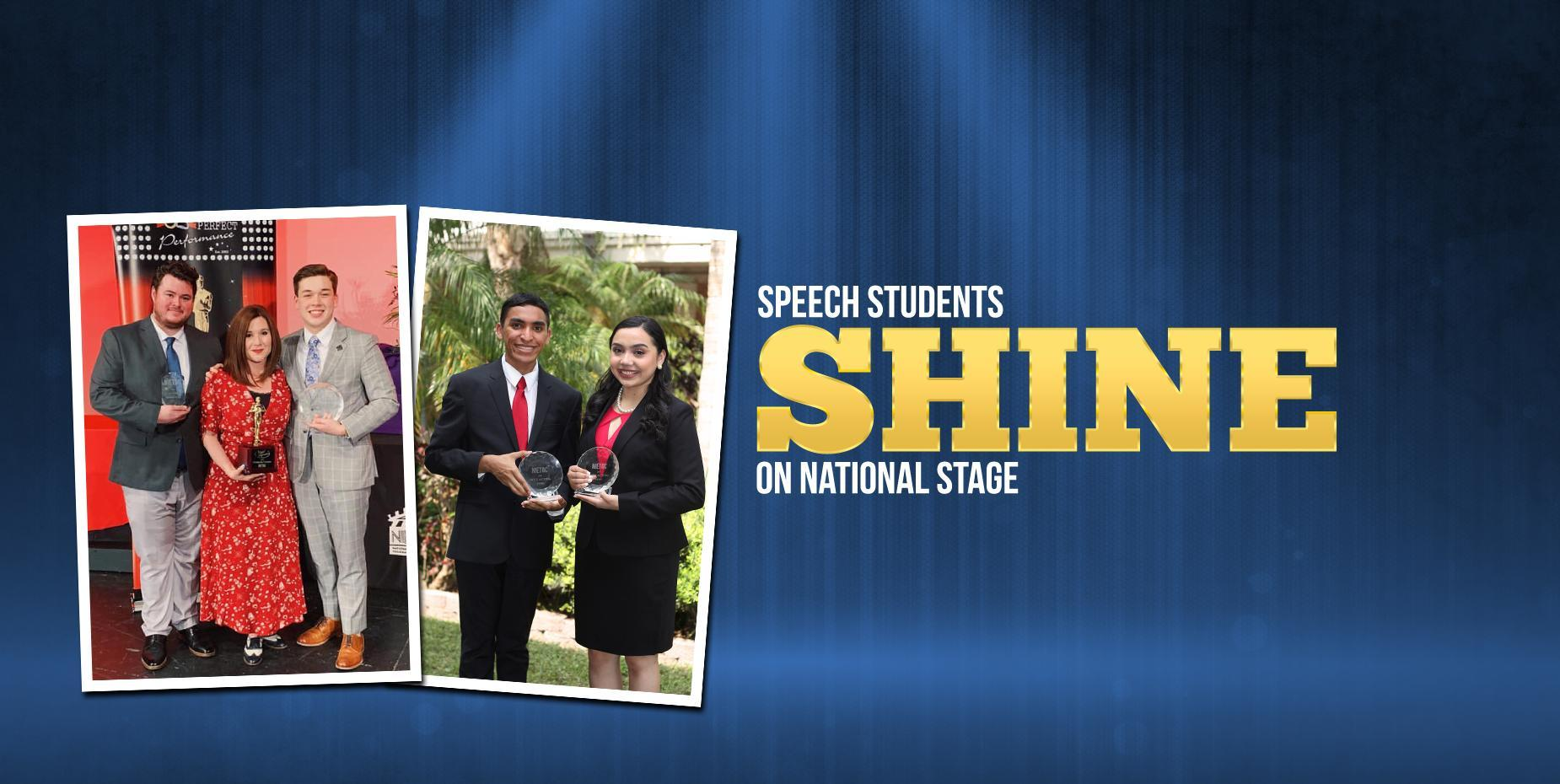 Speech Student Shine on National Stage