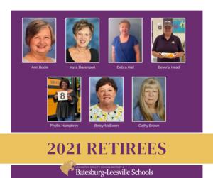 Lexington Three Congratulates Its 2021 Retiree Class