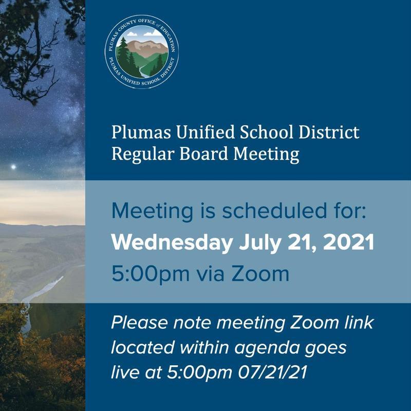 PUSD Board Meeting 7-21-21