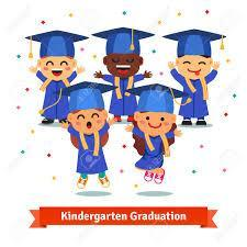 Image of Kinder Cap and Gown Cartoon
