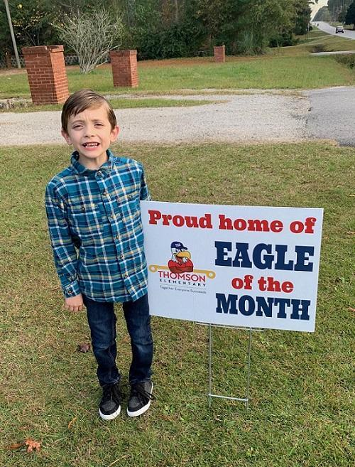 Second grader honored as Eagle of the Month