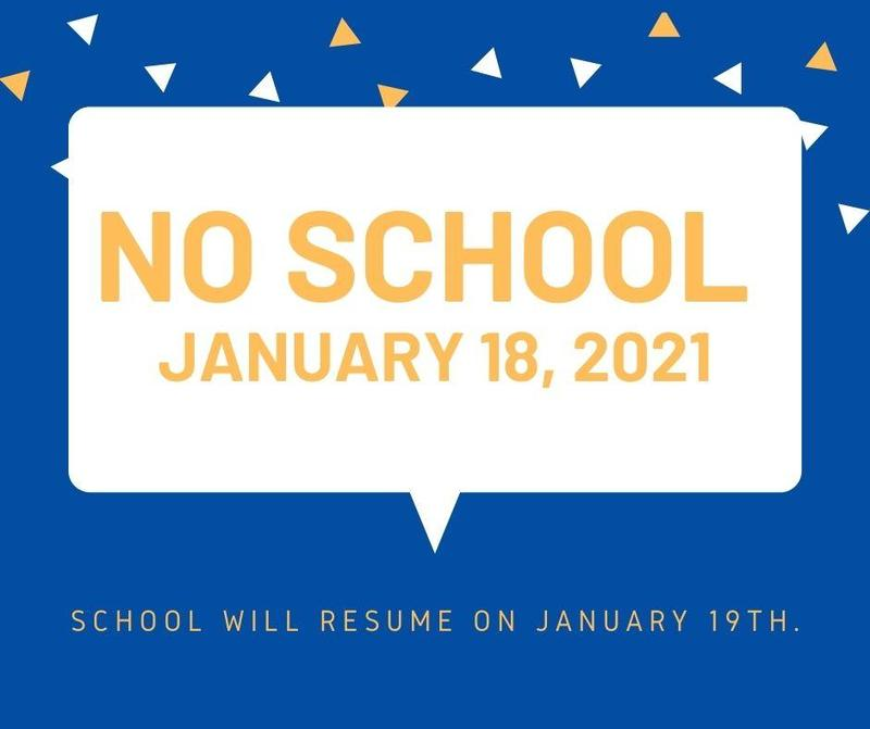 No school on Monday,January 18th, 2021 Featured Photo