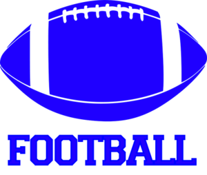 blue clipart of a football