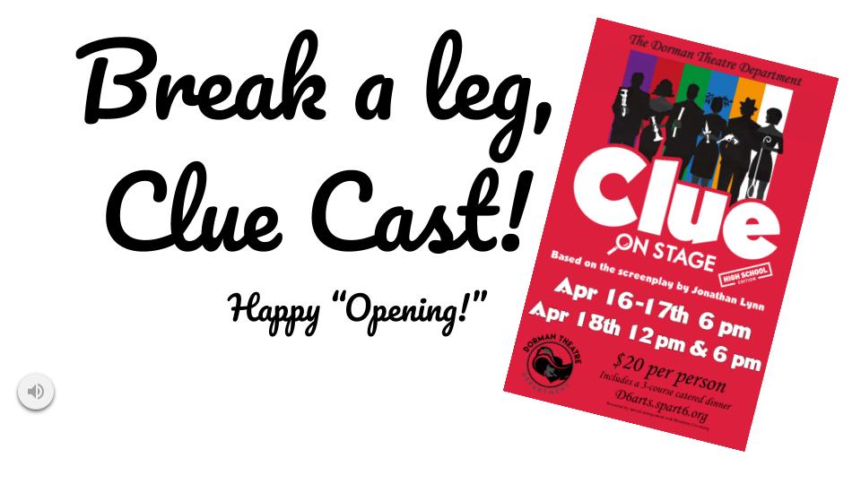 break a leg clue cast