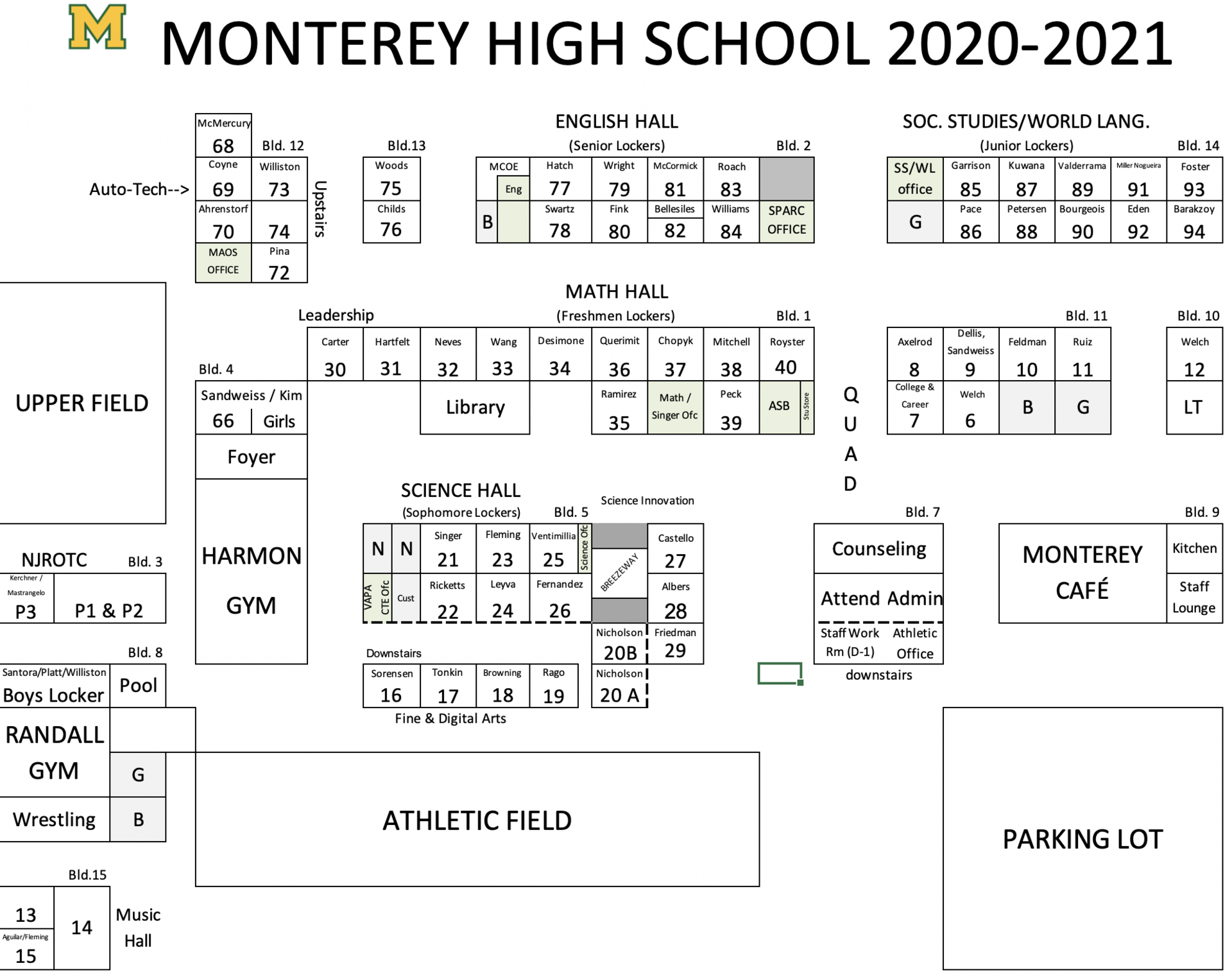 MHS Campus Map